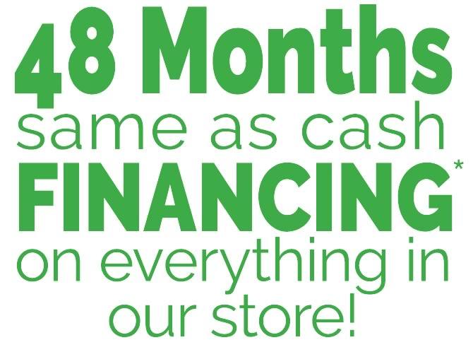 48 Months Same as Cash Sale