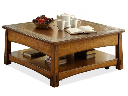 Craftsman Home Square Lift Top Coffee Table