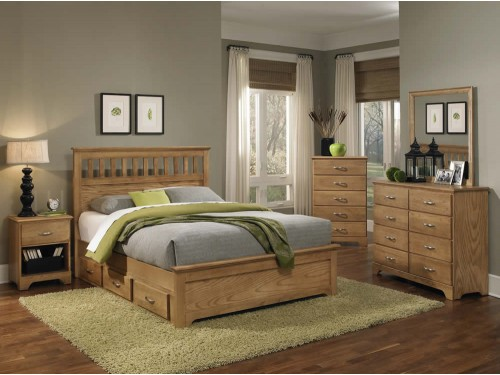Sterling Oak Bedroom Collection
