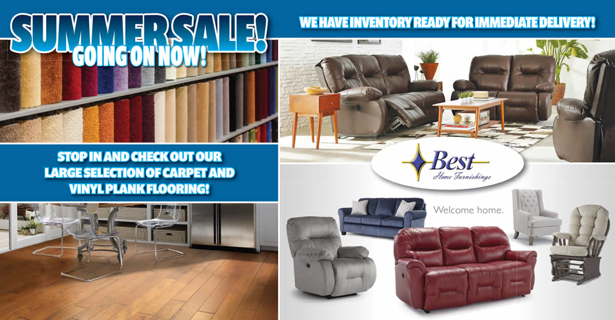 Flooring, Furniture, Home Decor, Mattresses and more!