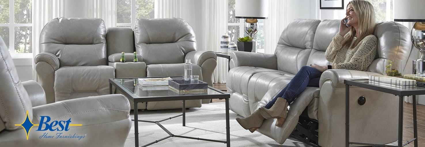 The Bodie reclining living room by Best Home Furnishings.